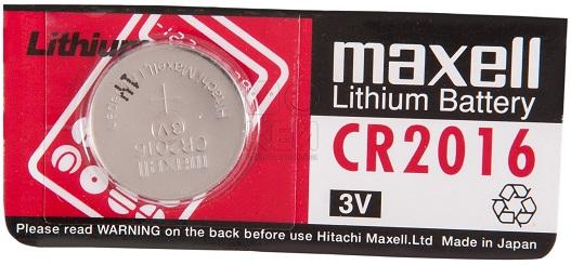 Pilha Lithium 3V CR2016 - MAXELL