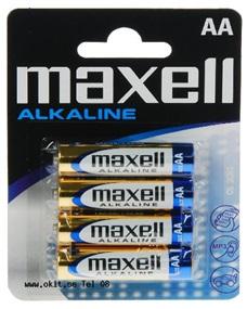 Blister 4 Pilhas Alcalinas 1,5V LR06 AA - MAXELL