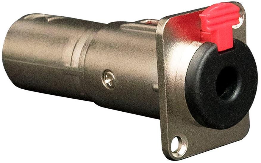 Ficha Adaptadora Canon Macho 3P - Jack 6,3mm Fêmea p/ Painel - ProFTC