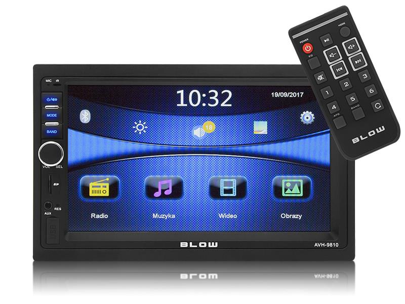 Auto Rádio 2 DIN 4x 50W (USB/AUX/SD/Bluetooth) - BLOW´AVH-9810
