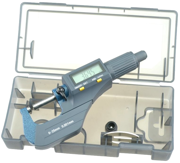 Micrómetro Digital 0...25mm (Precisão 0,01mm) - ProFTC