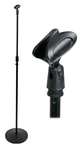 Suporte de Microfone c/ Base Redonda - HQ POWER