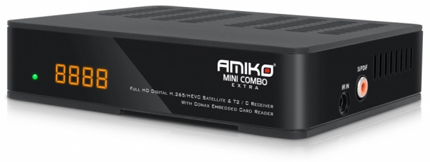 Receptor COMBO HD H.265/HEVC / MEDIA PLAYER (SAT + CABO + TDT) - AMIKO