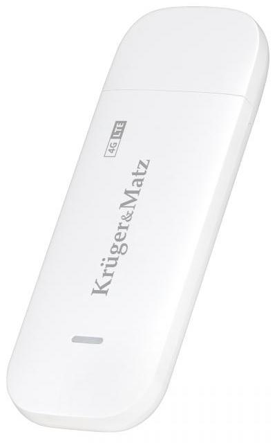 Modem Router Wireless USB 3G/4G LTE (Branco) - Kruger&Matz