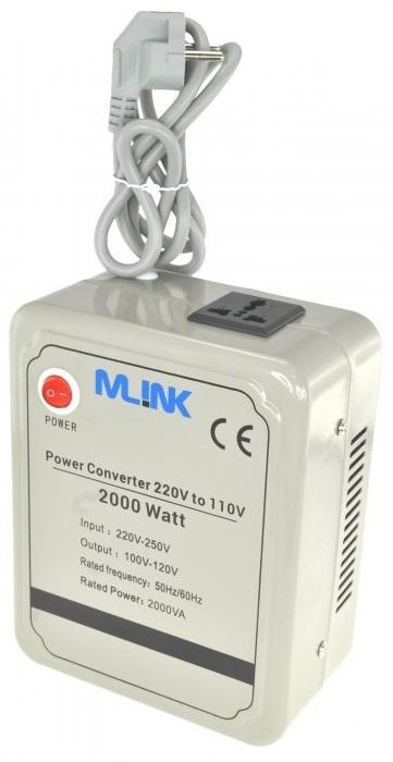 Conversor 220V ->110V 2000W - MLINK