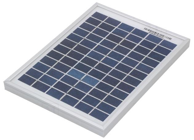 Painel Fotovoltaico Policristalino 5W / 18,2V - ProFTC