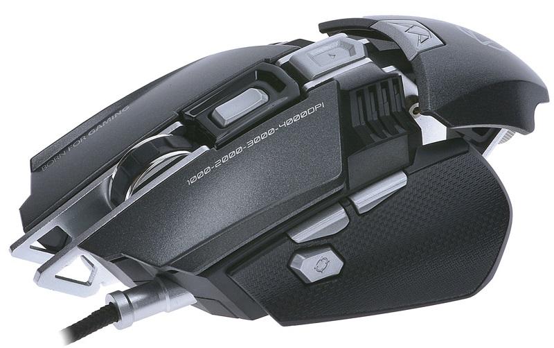 Rato Óptico USB GAMING Ajustável LED RGB 250~4000 DPI - MANTA