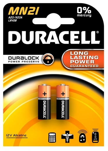 Blister 2 Pilhas Alcalinas 12V 23A - DURACELL