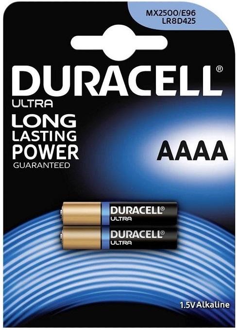 Blister 2 Pilhas Alcalinas LR61 AAAA - DURACELL