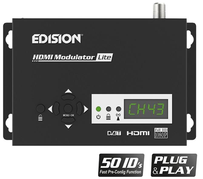 Modulador Digital HDMI FULL HD 1080p c/ Display para DVB-T/CCTV Lite - EDISION