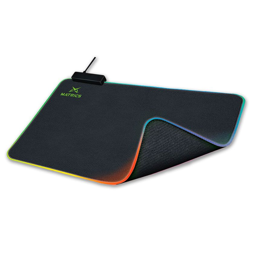 Tapete Gaming 45x40cm RGB (Preto) - MATRICS