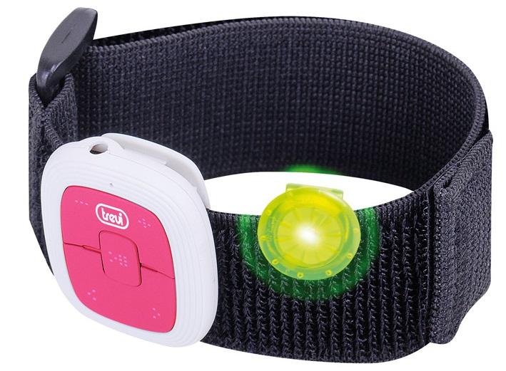 Leitor MP3 USB p/ Desporto (com Velcro) Rosa - TREVI