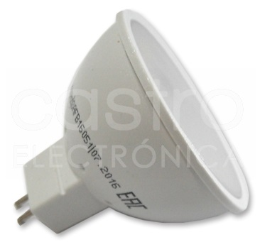 Lampada LED 220V MR16 7W Branco F. 6000K 560Lm