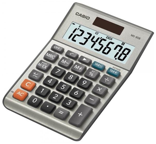 Calculadora Secretária 8 Digitos (MS-80B) - CASIO