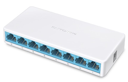Switch 8 Portas 10/100Mbps - MERCUSYS