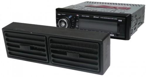 Moldura / Tampa de Simulação de Grelha Ventilação Anti-Roubo p/ Auto-Rádios 1 DIN - ProFTC
