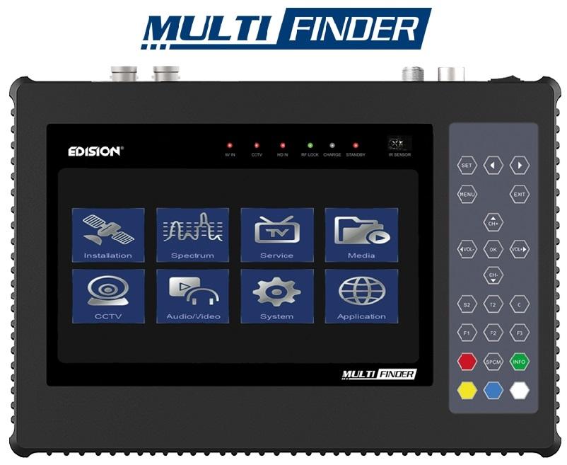 Medidor de Campo COMBO 7 (TDT, SATÉLITE, CABO e CCTV) MULTI-FINDER - EDISION
