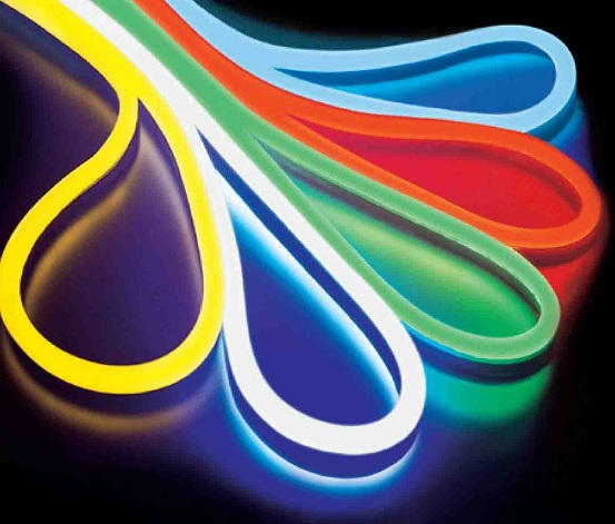 Fita LED NEON Flexivel Branco Frio 220V 9,6W 850Lm (Metro)