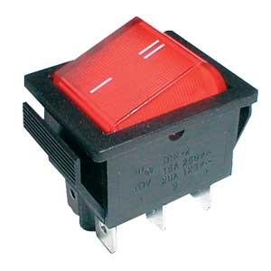 Interruptor Comutador ON-ON 2P-6P 15A/250V Vermelho