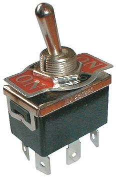Interruptor Alavanca ON-OFF-ON Bipolar 10A 250V