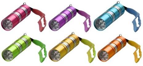 Lanterna 9 LEDs (Pilhas Incluidas) c/ 2 Mosquetões - ProFTC
