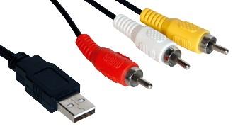 Cabo USB A Macho - 3 RCA A/V Macho (1,8 mts) - ProFTC