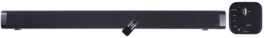 Barra de Som SOUNDBAR 10W RMS Bluetooth2.0, USB e AUX c/ Comando - NEVIR