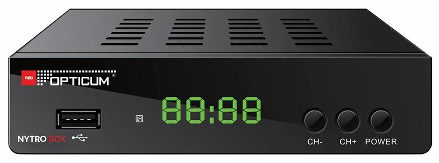 Receptor (CABO + TDT) H.265 FULLY DVB-T2/C - OPTICUM NYTRO BOX PLUS