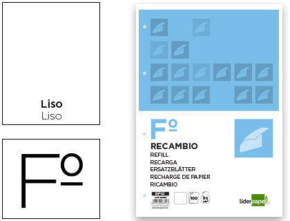 Recarga Folio 100 F 4Tf-10 Liso 4 Furos