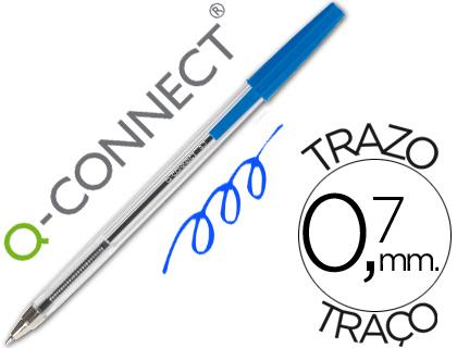 Caneta Cristal  Ponta Media Azul - Q-Connect