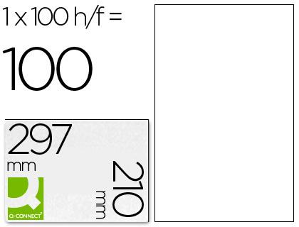 Etiquetas Adesivas Q-Connect Din A4 210 X 297 mm