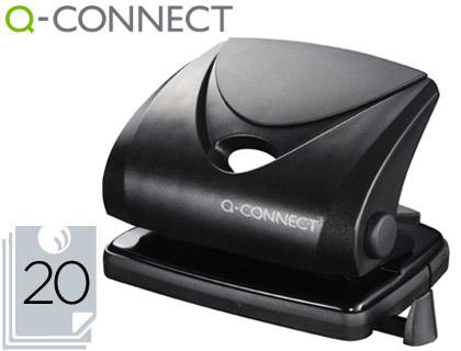 Furador Q-Connect, Capacidadee 20 Folhas - Preto