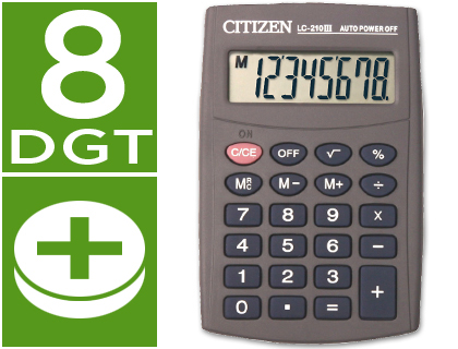 Calculadora Citizen de Bolso Lc-210 Iii 8 Digitos