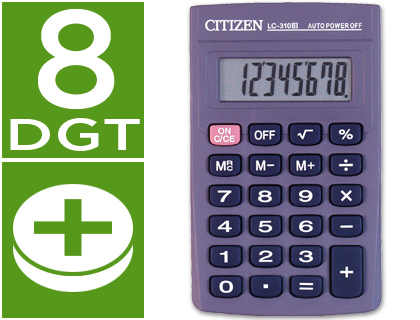 Calculadora Citizen de Bolso Lc-310Nr 8 Digitos