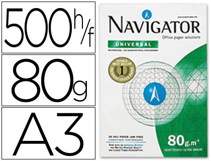 Resma 500x Papel Fotocopia Navigator Din A3 (80 Gr)