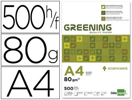 Resma Papel Fotocopia Greening Din A4 (80Gr) - 500 Folhas