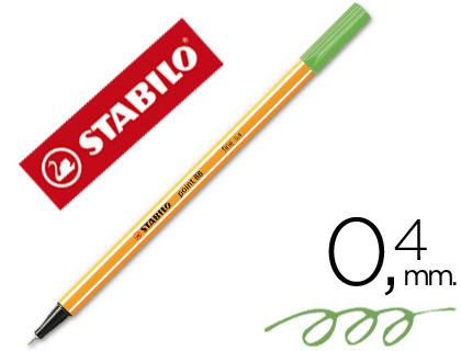 Marcador Stabilo Ponta de Fibra Point 88 Verde 0,4 mm