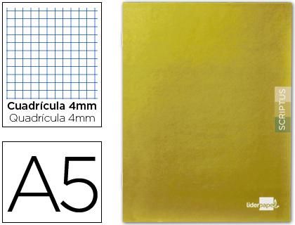 Caderno Escolar Scriptus 48F A5 Quadriculado 4 mm Capa Laranja Papel 90 Gr
