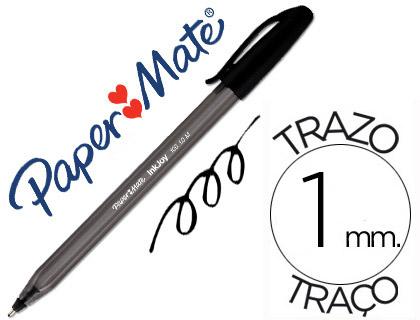 Caneta Paper Mate Inkjoy 100 Ponta Media Trazo 1mm Preto