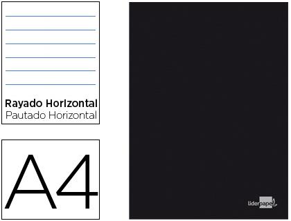 Caderno Escolar Capa Preta A4 80F Pautado Papel 60Gr