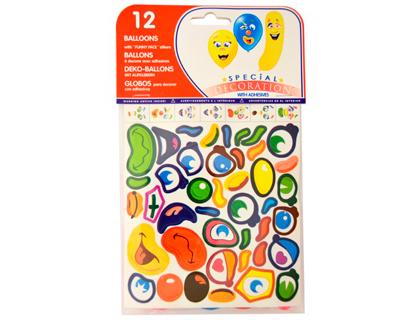 Balões + Adesivos (12 Unidades)