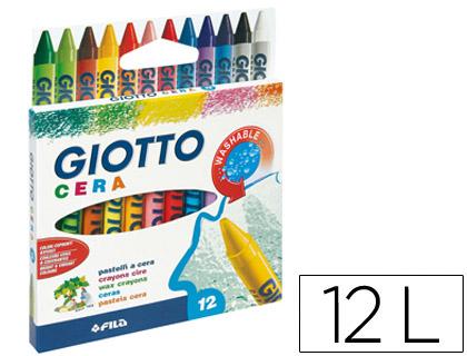 Lápis de Cera Giotto Caixa de 12 Unidades