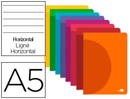Caderno Escolar Agrafado 360 Capa Plastico A5 48F 90g/m2 Pautado c/Margens Cores Sortidas