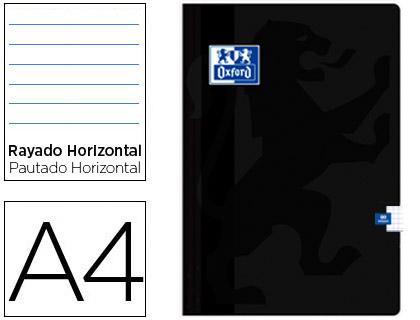 Caderno Agrafado Oxford A4 48F Pautado Preto
