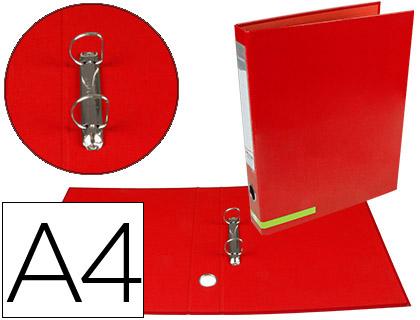 Pasta de Arquivo Cor System Cartão Forrado A4 2 Aneis 25mm Mistos Lombada 40mm s/Caixa Vermelha