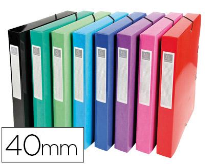 Pasta p/ Projetos Exacompta Cartão Compacto Din A4 Lomo 40 mm 600 G/M2 Cores Sortidas