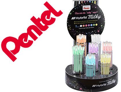 Expositor Roller Pentel K108 c/ 7 Duzias e 7 Cores Pastel 0,8 mm