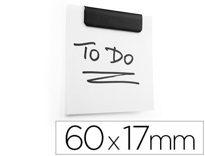 Pinça Metalica Durable Durafix Clip Magnetica Auto Adesiva 60X17 mmPreto (5 Unidades)