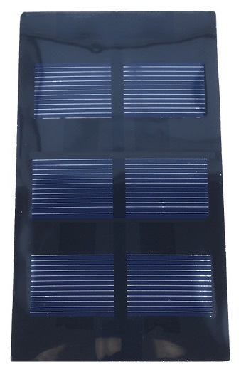 Painel Fotovoltaico 0,525W 350mA / 1,5V (62 x 120mm)