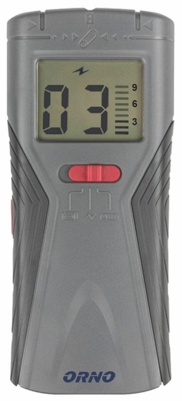 Detector de Metais, Madeiras e Cabos 3-EM-1 c/ Visor LCD - ORNO